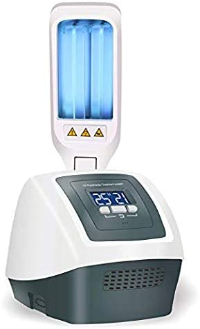 FDA Approved Portable UV Phototherapy Lamp Home UV Light with Two Philips Bulbs Digital Timer Control, 311nm Narrowband
