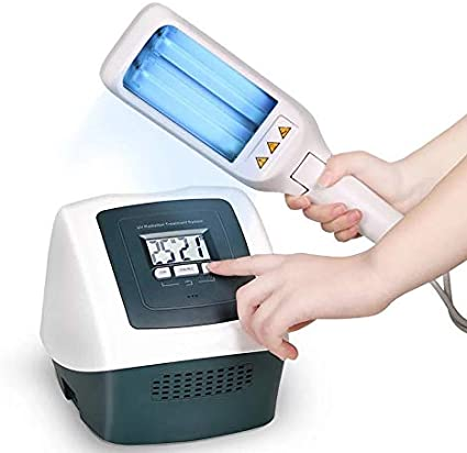 FDA Approved UV Phototherapy Light with Two Philips Bulbs,LCD Display&Smart Timer,Narrow Band 311nm